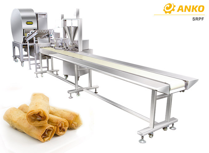 SRPF semi automatic spring roll at samos production line