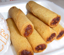 Jolibee Lumpia, deep fried Filipino spring rolls