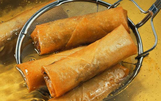 Lumpia, Filipino, Spring Rolls, deep fried Filipino spring rolls