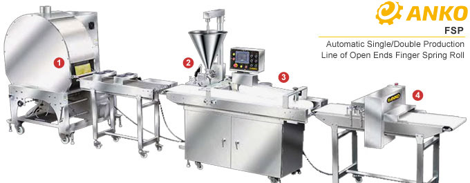 FSP- Automatic Single / Double Linea di produzione di Open End Finger Involtino primavera