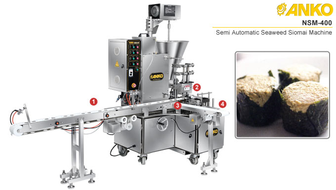 Semi automatic seaweed shumai machine NSW-400