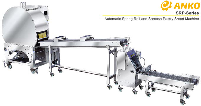 ANKO Automatic Spring Roll And Samosa Pastry Sheet Machine SRP-serie