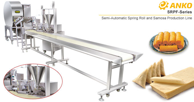 ANKO Semi-automatic spring roll and samosa production line SRPF-series