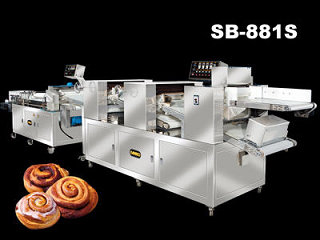 Food Machine - Automatic Cinnamon Roll Production Line